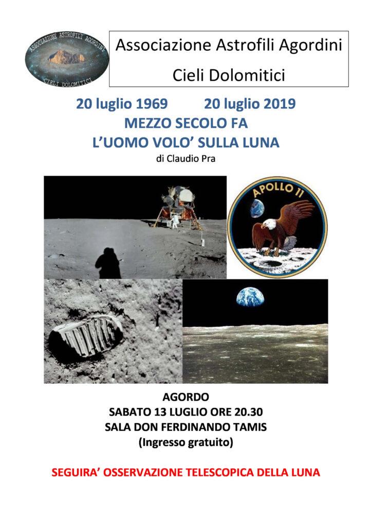 Manifesto serata anniversario 50° sbarco sulla Luna